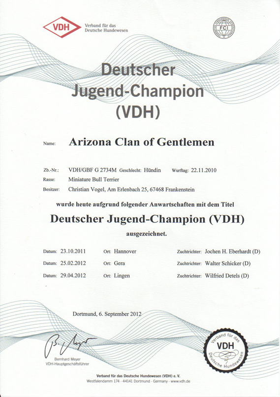 Deutscher Jugendchampion VDH